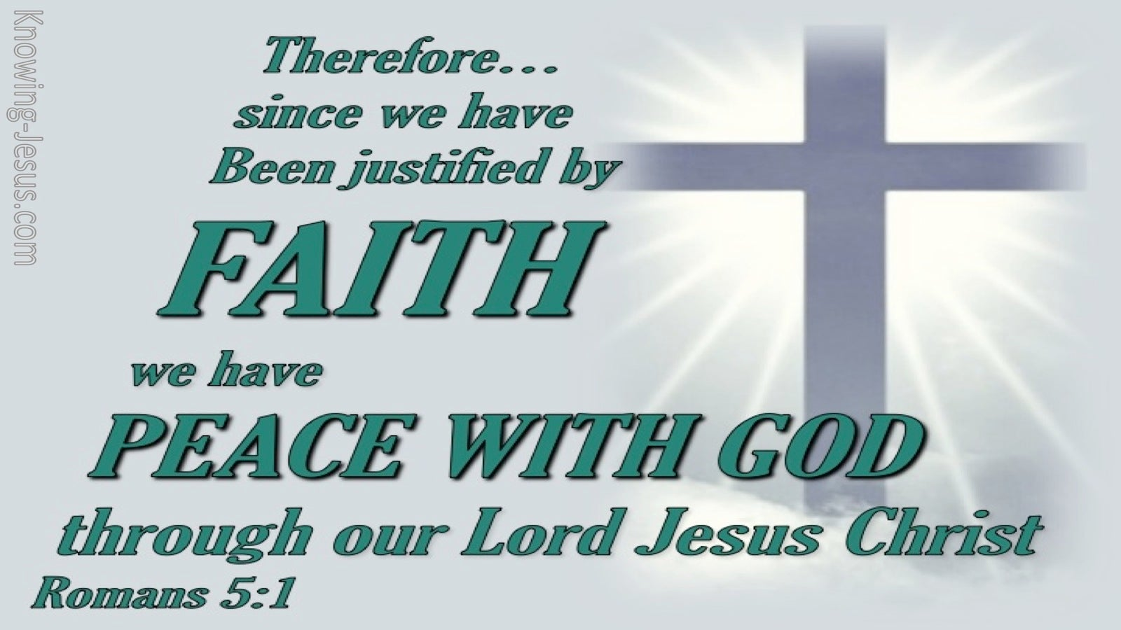 Romans 5:1 Justified By Faith (green)